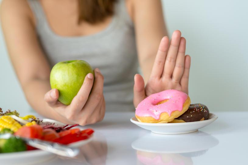 No sugar diet for diabetic woman.