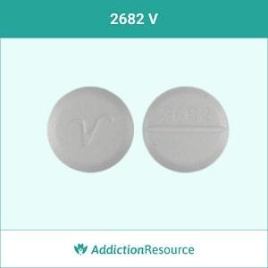 2682 V Valium pill.