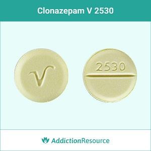 Clonazepam V-2530 pill.