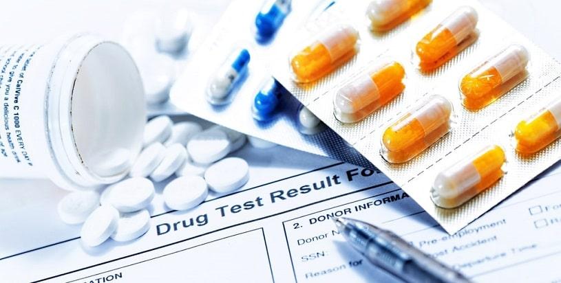 Blank of Valium drug test results.