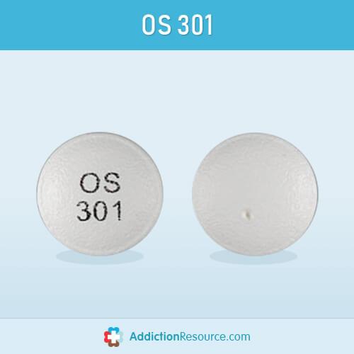 Effexor tablet with OS 301 imprint.