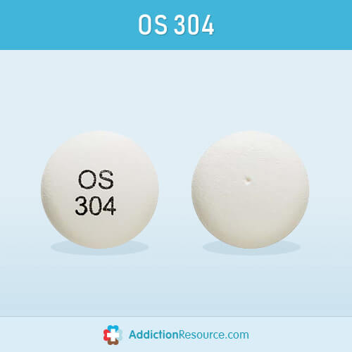 Effexor tablet with OS 304 imprint.