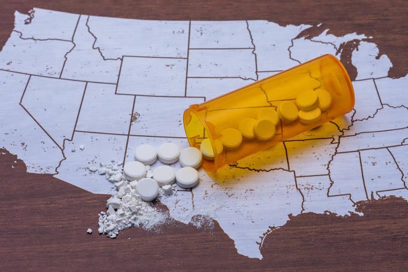 Opioid and prescription drug epidemic.