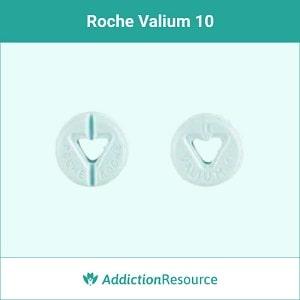 Blue Roche valium 10mg pill.