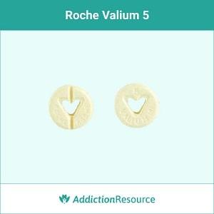 Roche Valium yellow pill.