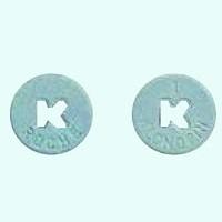 Blue roche Klonopin pill.
