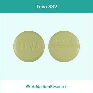 Teva 832 clonazepam pill.