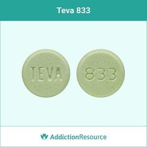 Teva 833 clonazepam pill.