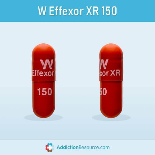 Venlafaxine 150 mg red capsule.