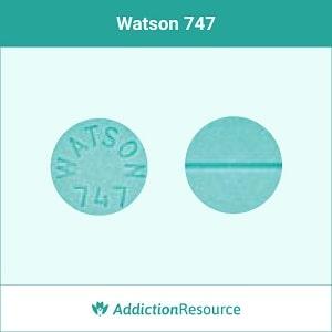Watson 747 clonazepam pill.