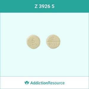 Valium pill with an imprint Z3926.