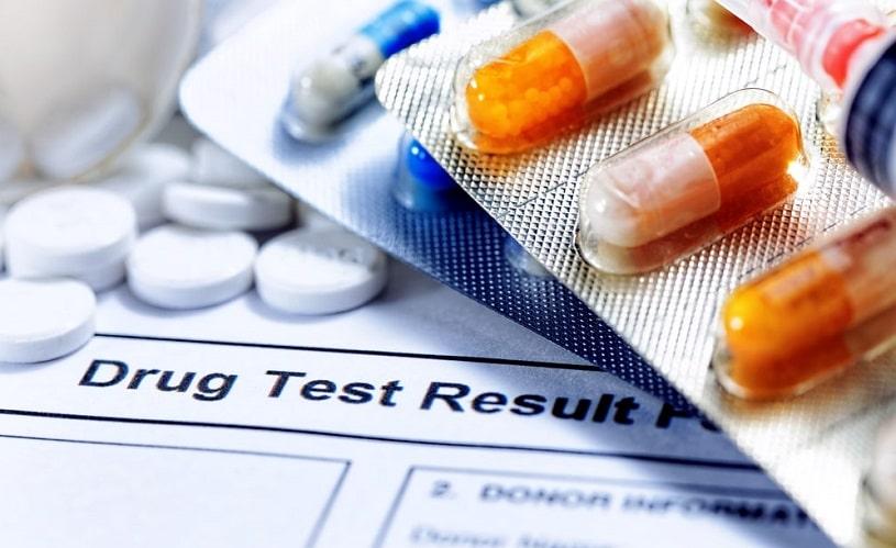Tramadol pills on drug test results.