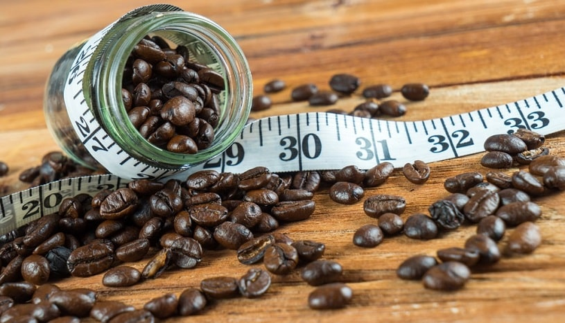 Coffee beans in the bottle.