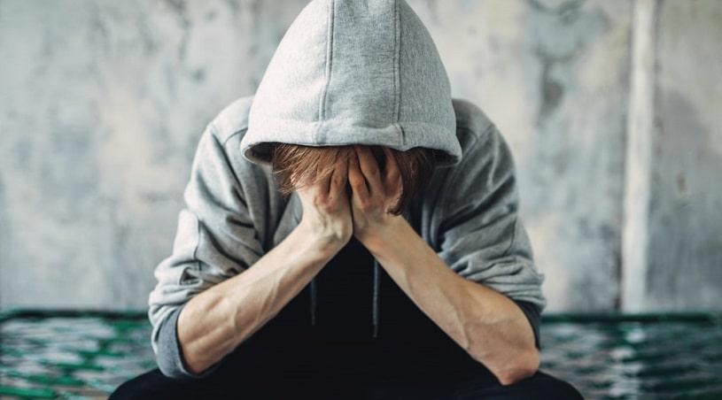 Man experiencing baclofen withdrawal, feeling bad.