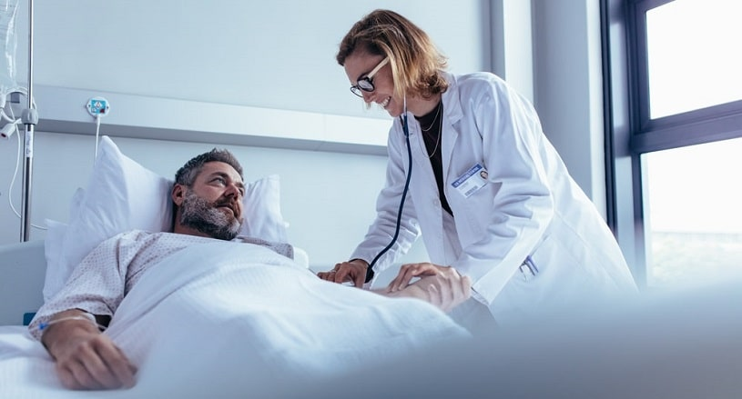 Man at a hospital after Baclofen overdose.