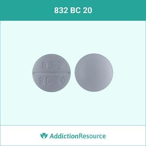 832 BC 20 baclofen pill.