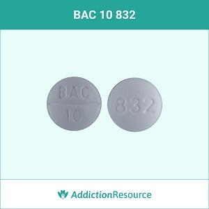 BAC 10 832 pill.