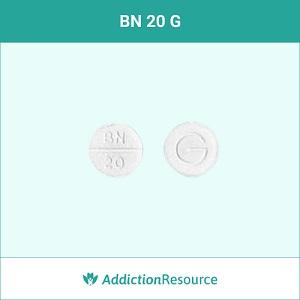 BN 20 G white pill.
