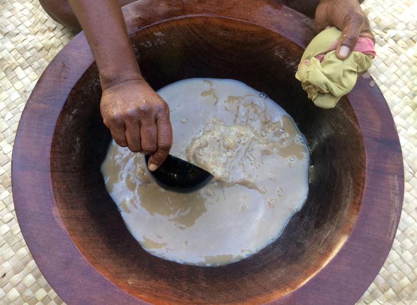 A big bowl of Kava tea.