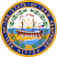 Seal of New Hampshire state.