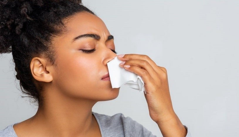 Woman having nosebleeds after snorting Oxycodone.