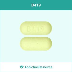 B419 meloxicam pill.