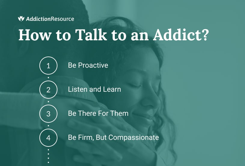 How to talk to an addict.