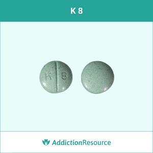 K 8 Oxycodone pill.