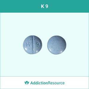 K 9 Oxycodone pill.