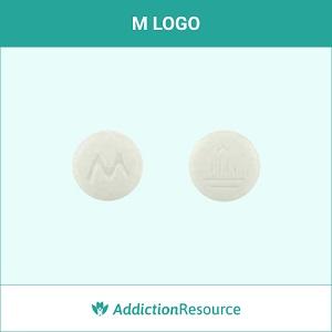 M LOGO pill.