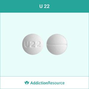 U 22 Oxycodone pill.