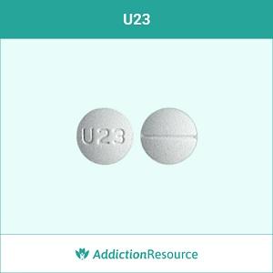 U23 Oxycodone pill.