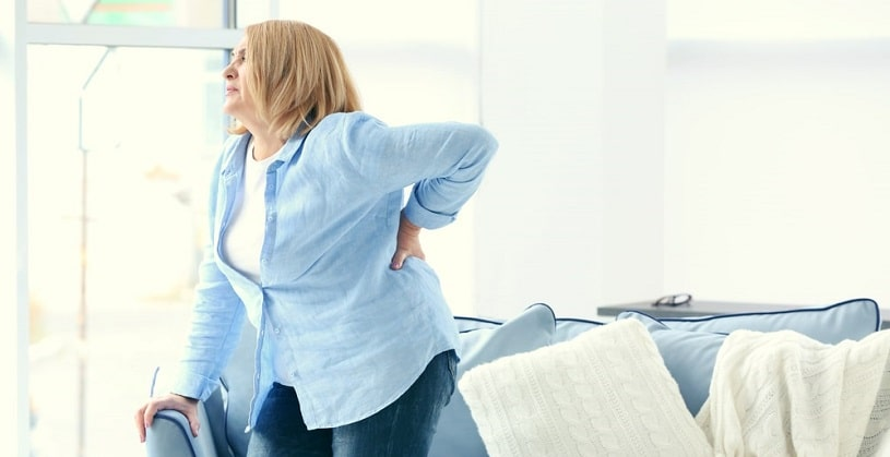Woman suffering backage after stopping Meloxicam.