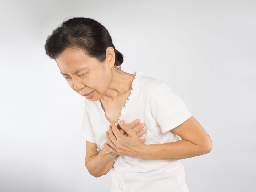 An Elderly Woman Has Heart Pain