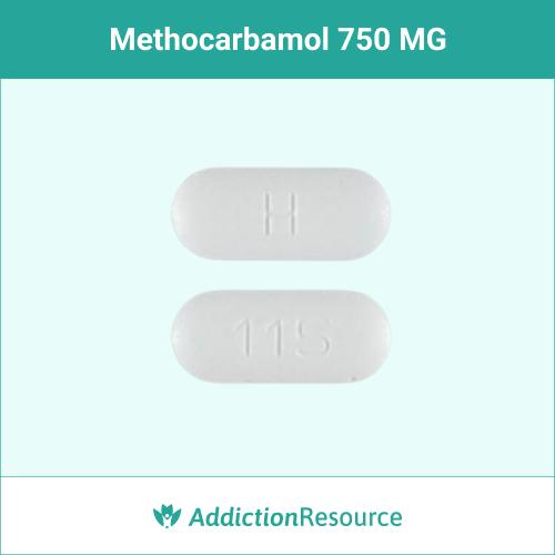 Methocarbamol 750 MG, H 115.