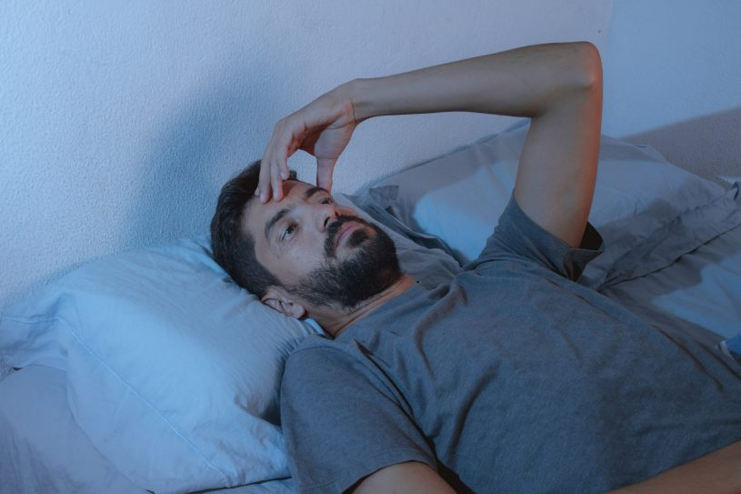 Man is Suffering from Headaches