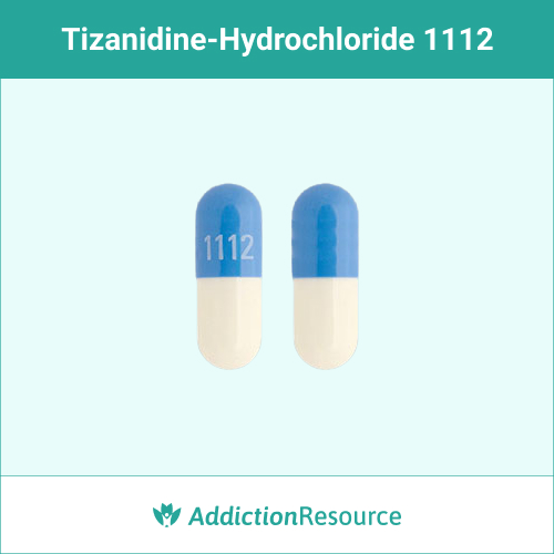 Blue and white 1112 capsule