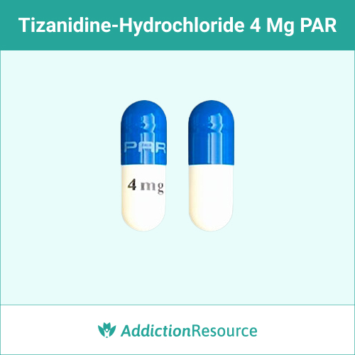 Blue and white 4 mg PAR capsule