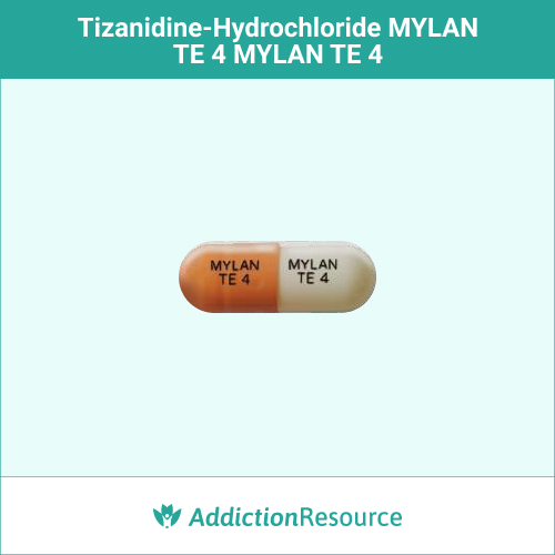 Orange and white MYLAN TE 4 capsule