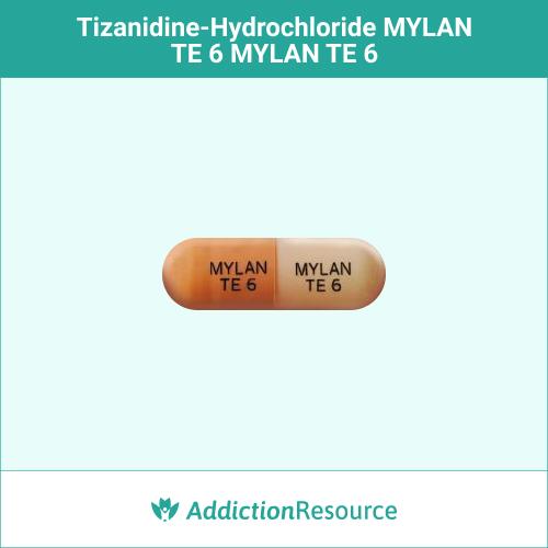 Orange and peach MYLAN TE 6 capsule