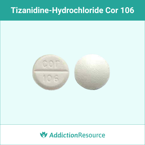 White Cor 106 pill